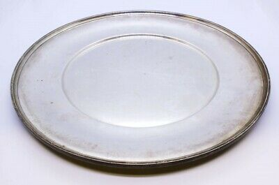 "R Wallace & Sons 925 Sterling Silver 10"" Dinner Sandwich Plate NO MONO 2412"