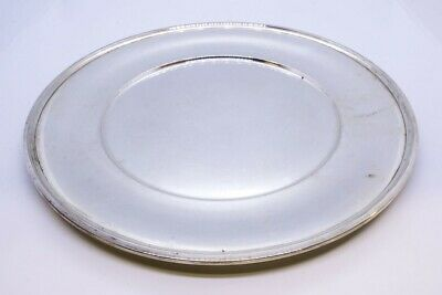 "R Wallace & Sons 925 Sterling Silver 10"" Dinner Sandwich Plate NO MONO 2413"
