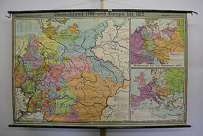 Schulwandkarte Wall Map Map Germany Prussia 1789 1815 207x133cm 1953 Map