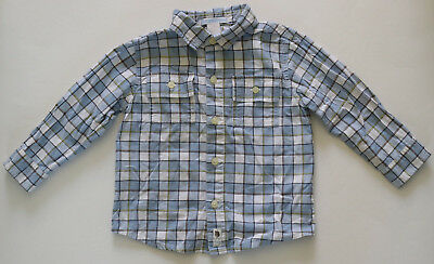 GUC Toddler Boys' 18-24 Months Janie and Jack Plaid Button-Up Long-Sleeve Shirt