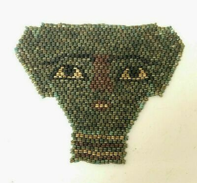 Ancient EGYPTIAN MUMMY BEAD FACE MASK LATE PERIOD c.712-343 B.C.