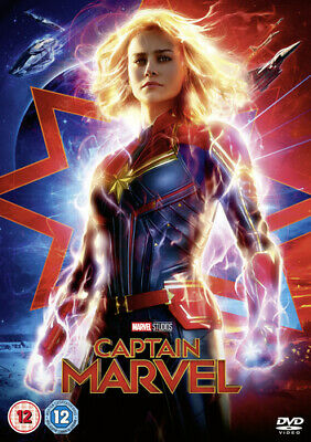 Captain Marvel DVD (2019) Brie Larson, Boden (DIR) cert 12 Fast and FREE P & P