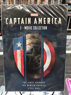 CAPTAIN AMERICA 1-3 3-movie Collection Brand New FREE FIRST CLASS Shipping