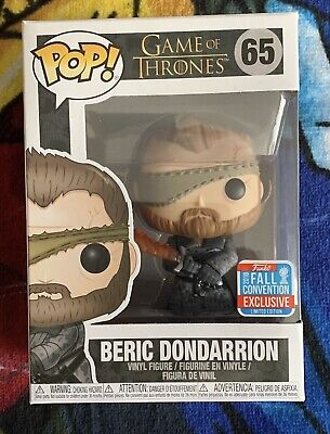 Funko Pop GAME OF THRONES vault BERIC DONDARRION limited edition NYCC EXCLUSIVE
