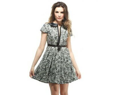 IRON FIST Samanthan Dress Collar Butterfly Skull Lacey RARE NWT Ladies Womens
