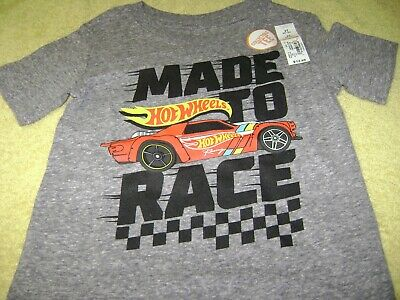Boys  T-Shirt  Hot Wheels  Size  4T New  Says:  Made To  Race !  L@@k