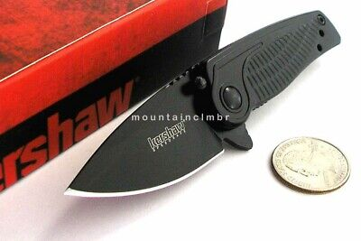 Kershaw SPOKE Small Compact Folder Flipper Assisted Opening Knife CLAM 1331BLK