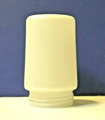 "OPAL WHITE MILK Glass VAPOR Jar 3.25"" Threaded Fitter 81451 NEW Replacement"