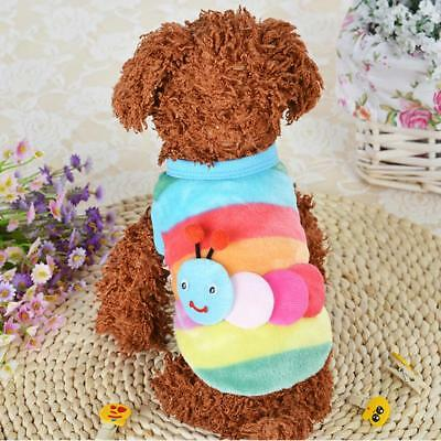 Flannel Small Pet Dog Cat Teddy Sweater Autumn Winter Warm Coat Clothes Costume