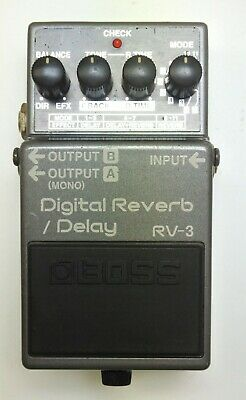 BOSS RV-3 Digital Reverb Delay Guitar Effects Pedal 1996 Pink Label #88