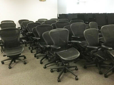 HERMAN MILLER AERON CHAIR SIZE B&C FULLY ADJUSTABLE. Local Delivery OK