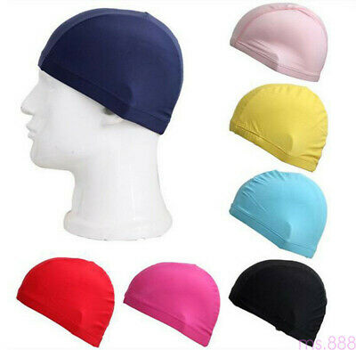 1Pc Polyester Stretch Cap Spandex Fabric Material Swimming Swim Pool Hat New