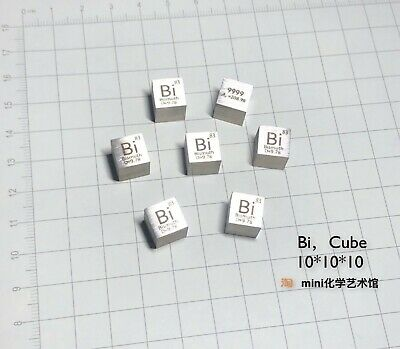Bismuth Metal 10mm Density Cube 99.95% Pure for Element Collection