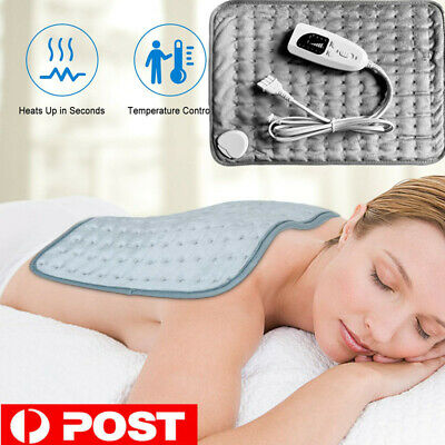 Electric Heating Pad Heat Therapy Fast Body Neck Shoulder Pain Relief Auto Off D