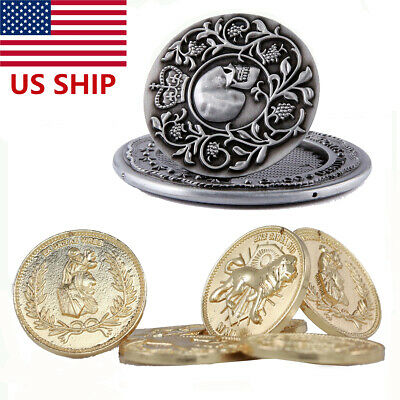 JohnWick Blood Oath Marker Badge Replica Continental Hotel Gold Coin Metal 5pcs