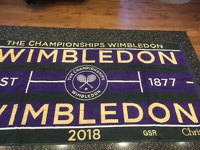 Wimbledon The Championship 2018 Official Men's Tennis Towel New In Travel Case