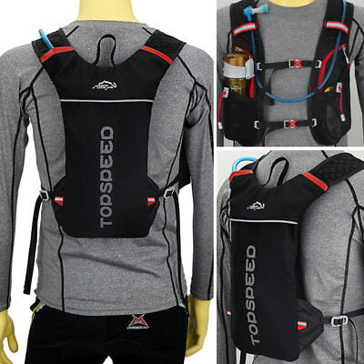 AU Running Hydration Water Backpack Outdoors Camping Hiking Marathon Vest Pack