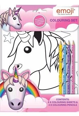 Unicorn Colouring Set Colours  Kids Activity Pack Gift Party Filler Travel  Gift