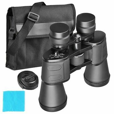 50mm Tube 10x-180x100 Zoom Binoculars Day Vision HD Hunting Telescope Travel