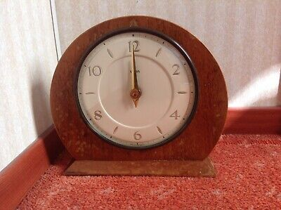 Smiths Mantle Clock (Sold As Seen For Spares Or Restoration)