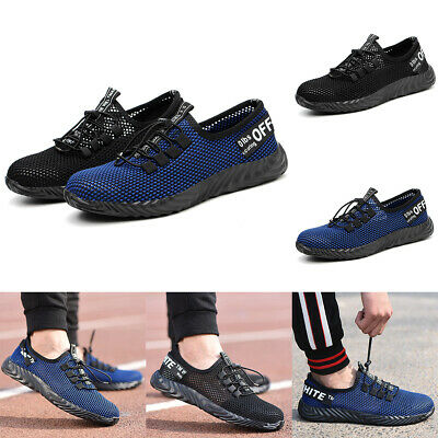 Mens Safety Shoes Trainers Steel Toe Work Boots Sports Hiking Shoes Sneakers