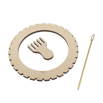 DIY Round Wooden Knitting Wool Loom Sewing Needle Craft for Wall Hanging