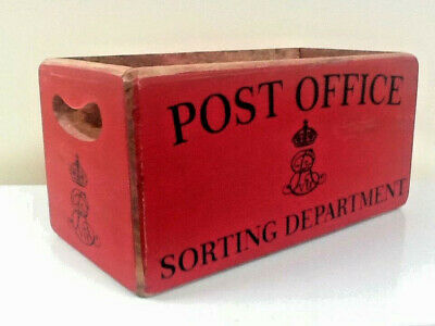 Post Office Storage Crate. Vintage Style Letter / Book Storage Box.