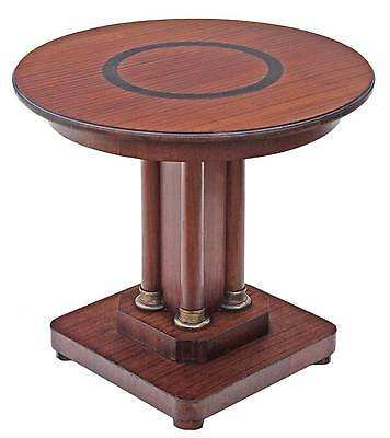 Quality Art Deco C1920 mahogany centre window side lamp supper table pedestal