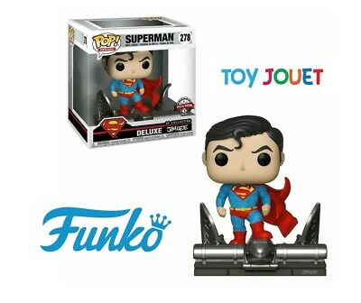 FUNKO POP DELUXE 278 SUPERMAN ON GARGOYLE EXCLU signée JIM LEE