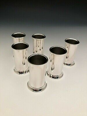 """Tiffany & Co.Sterling Silver set of 6 Shot Glass or Liquor Cups, 2.5"""""""
