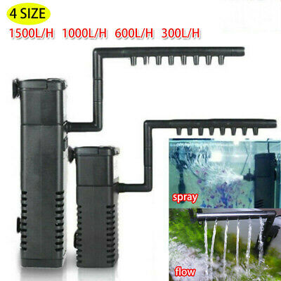Internal Fish Tank Aquarium Filter Submersible with Spray Bar For Hidom F4O0E