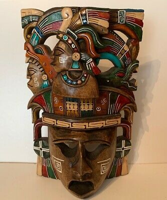 Hand Carved Decorative Wooden Mask