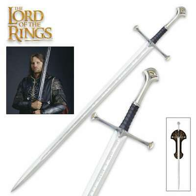 UNITED CUTLERY LORD OF THE RINGS LOTR ANDURIL SWORD Medieval Movie Fantasy Elvis