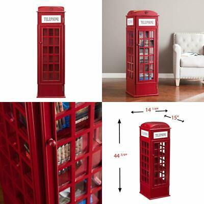 BRITISH PHONE BOOTH Cabinet - London Red Telephone Box 6FT Display