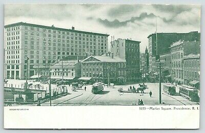 MARKET SQUARE, TROLLEY Cars, PROVIDENCE, Rhode Island, 1901