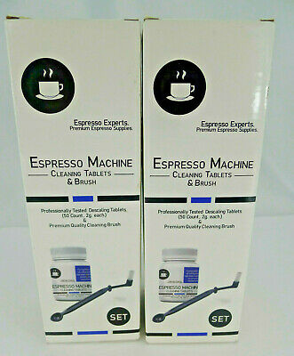 Lot Espresso Machine Coffee Maker 100 Cleaning Descaling Tablets 2 Brushes