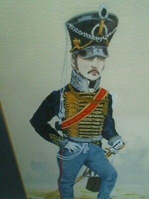 MILITARY, 3 ORIGINAL WATERCOLOURS OF 19th CENTURY SOLDIERS AND THEIR UNIFORMS