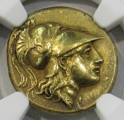 336-323 Bc Gold Macedon Stater Alexander Iii Ngc Choice Extremely Fine 4/2