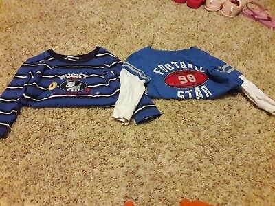 baby boy long sleeve blue Carters 18 month t shirts- lot of 2