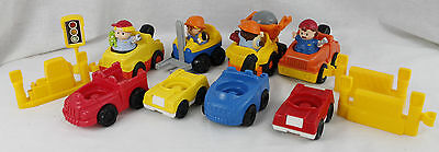 Fisher Price Little People Construction Lot Figures Vehicles Fork Lift Tow Truck