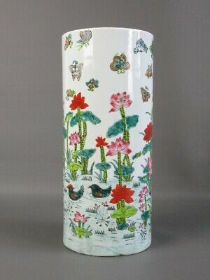Vintage Jar Chinese Porcelain Painted with Shapes Lacustri Period Xx Century