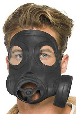 (TG. Taglia unica) SMIFFYS Smiffy's Maschera Anti-Gas, Nero, Lattice per Adulti,