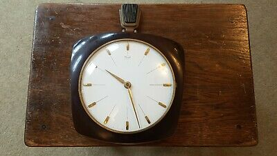 Vintage Kienzle Wall Clock Battery Powered for Spares/Repairs Art Deco Style