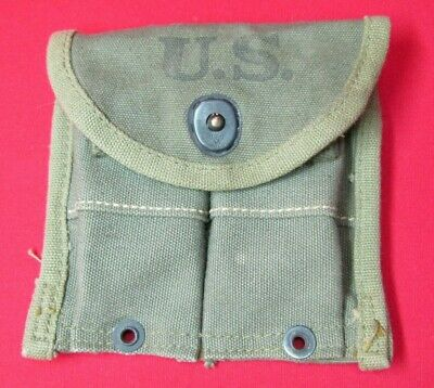 NOS Vintage WWII US Army USMC M1 Carbine Or Rifle Magazine Ammunition Pouch 1944