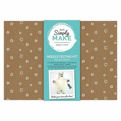 Simply Make by docrafts - Create Your Own Polar Bear Needle Felting Kit for B...