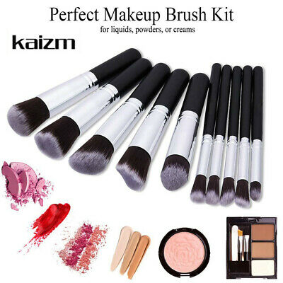 10Pcs Makeup Brush Set Cosmetic Powder Foundation Brushes Girl Special Gift US