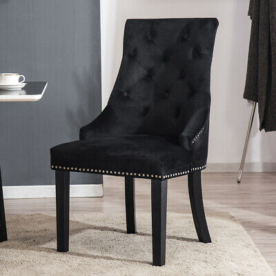 2/4 Velvet Fabric Dining Chair Modern Living Room Restaurant Accent Dinner Chair