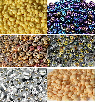Czech Glass Preciosa Twin Seed Bead,  2.5x5mm,25g,additional item is Free Post.