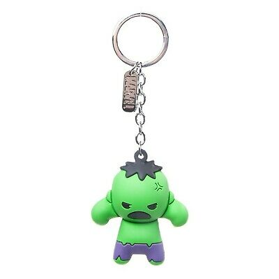 Bioworld Marvel Comics Incredible Hulk Character 3D Pendant Rubber Keychain, ...