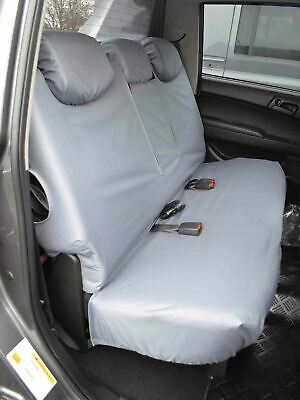 06-15 Double Cab Tailored Grey Rear Bench Seat Covers for Mitsubishi L200